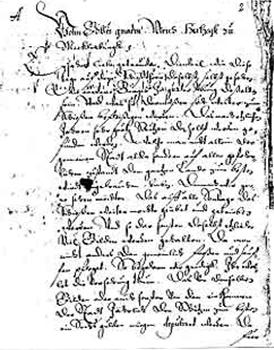 Pergamentschriftstück SV-Vier-Tore